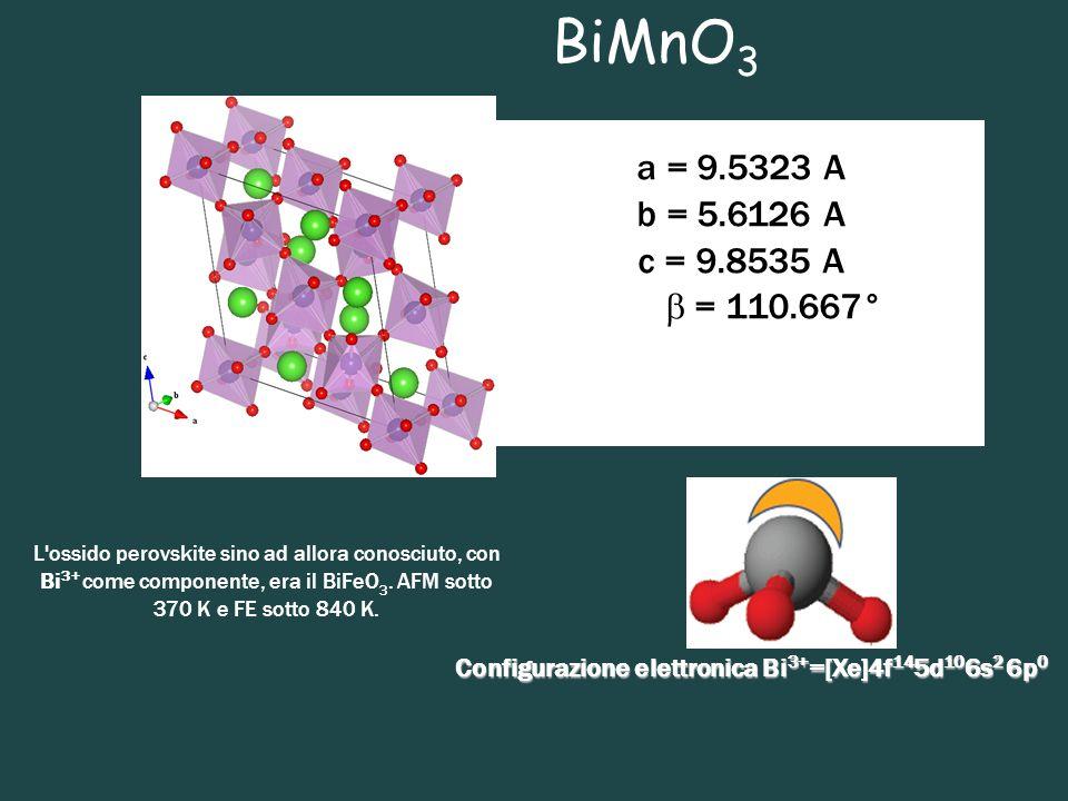 Configurazione elettronica Bi3+=[Xe]4f145d106s2 6p0